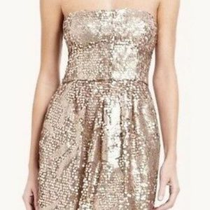 BCBG MAXARZIA GOLD SEQUIN DRESS